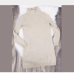 Boden Sweater Dress Size 10 Tan Turtleneck